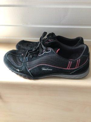 schwarz pinke Sneakers / Schnürschuhe / Halbschuhe von Skechers - Gr. 38