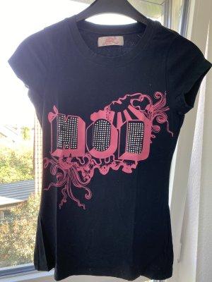 Schwarz/pinkes Strassshirt von MoD