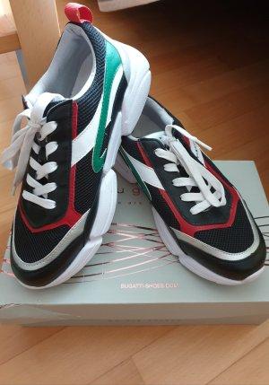 schwarz-rot-grüne Sneaker von Bugatti