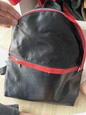 Trekking Backpack black-dark red