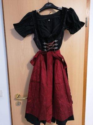 Schwarz-rotes Dirndl in Größe 34