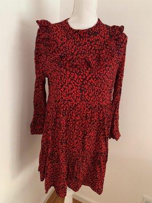 Schwarz / Rotes zara Kleid in Größe L