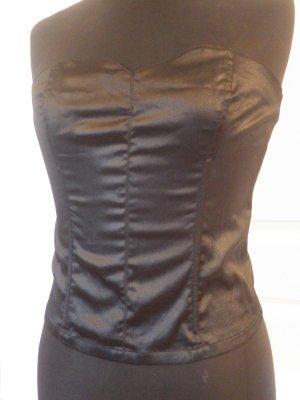 schwarz sexy Damen Mieder Gr. 38 bauchfrei Top Schnürung schwarz Gothic