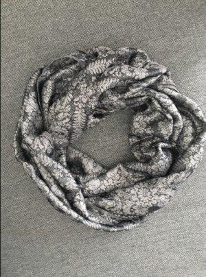 Schwarz Silbener Schal