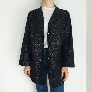 Vintage Oversized Jacket black-silver-colored