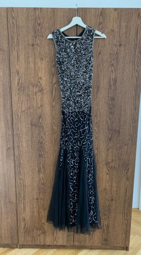 Schwarz/Silber Abendkleid/Ballkleid im Mermaid Cut