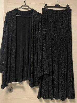 Ensemble en jersey noir-argenté