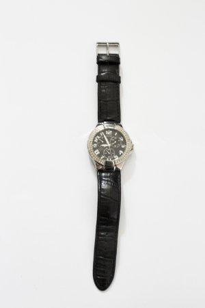 Schwarz/Silber Guess Uhr