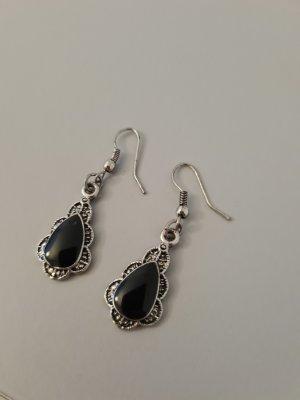 Scarlet Bijoux Bungeloorbellen zwart-zilver