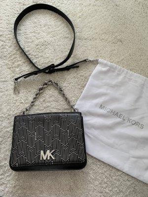 Michael Kors Borsa a spalla argento-nero