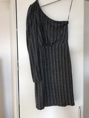 Vero Moda Sukienka na jedno ramię czarny-srebrny
