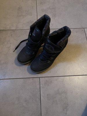 Schwarz Stiefel Pumps