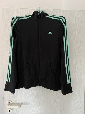 Schwarz / Türkise Adidas Sweatshirtjacke