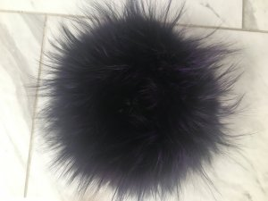 Tubesjaal zwart-lila Vacht