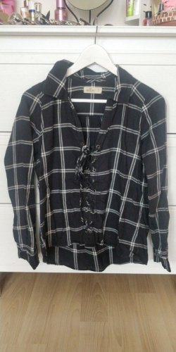 Hollister Blusa a cuadros negro-blanco