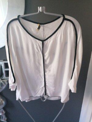 Schwarz weiß Bluse
