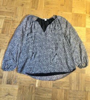 Schwarz weiß gemusterte Bluse von Diane von Fürstenberg