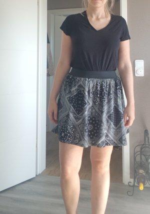 Fishbone Mini rok zwart-wit