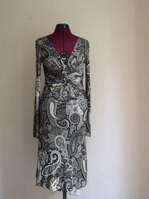 Schwarz weiß gemustertes ETRO Kleid