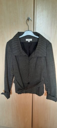 1.2.3 Paris Between-Seasons Jacket black-white linen