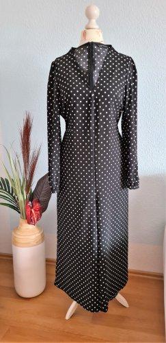 schwarz-weiß gepunkteter Jumpsuit, Overall von Zara