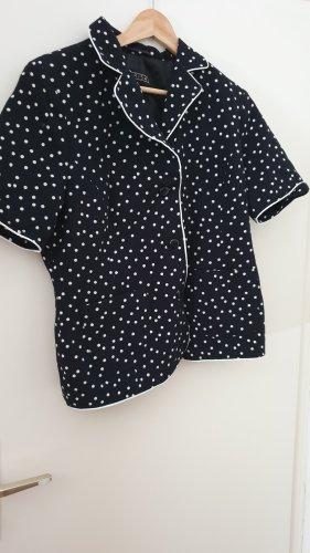 Schwarz weiß gepunkteter Kurzarm Blazer von Barisal
