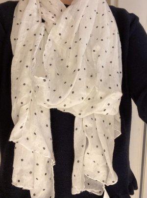 Schwarz weiß gepunktetes Tuch
