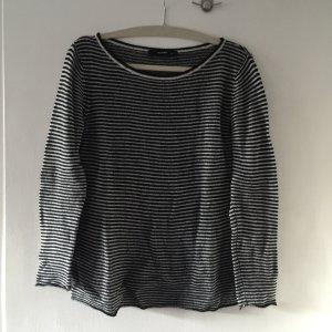 Hallhuber Kaszmirowy sweter czarny-biały Kaszmir