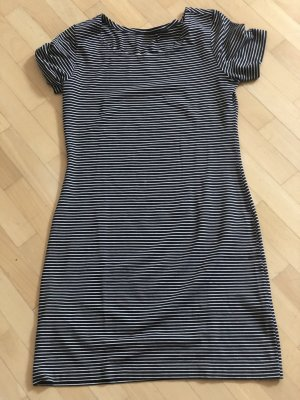 Robe t-shirt noir-blanc