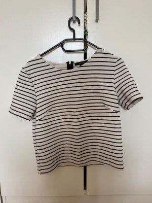 Schwarz-weiß gestreifte Bluse