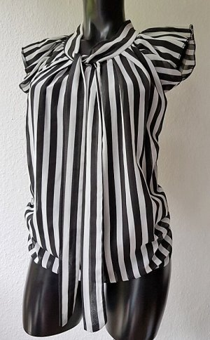 Jennifer Taylor Camisa de mujer blanco-negro