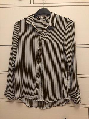 H&M Cols de blouses blanc-noir
