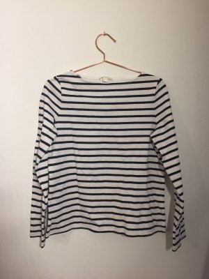 COS Crewneck Sweater white-black