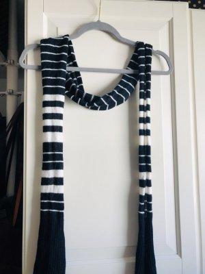 Promod Écharpe en laine noir-blanc coton