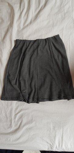 Pull & Bear Skaterska spódnica biały-czarny
