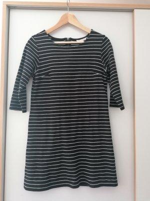 Tom Tailor Denim Sukienka dresowa czarny-biały Bawełna