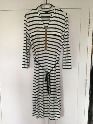 Daniel Hechter Jersey Dress white-black viscose