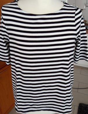 schwarz-weiß gestreiftes Kurzarm Shirt von Bonita Gr.M