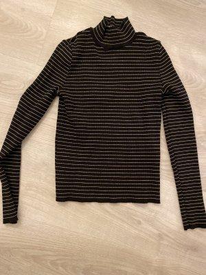Schwarz weiß gestreiftes Langarmshirt