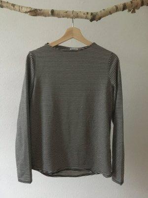 re.draft Boothalsshirt zwart-wit
