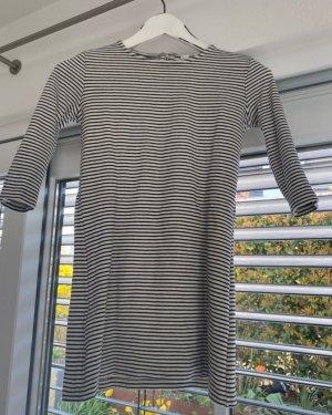 schwarz/ weiß gestreiftes Mini- Kleid MNG