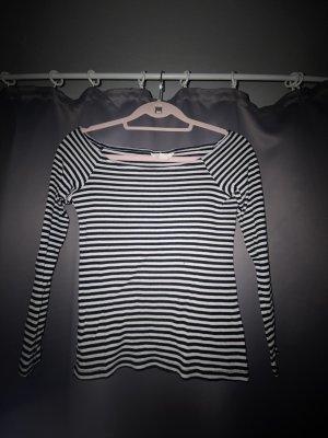 H&M Boothalsshirt wit-zwart