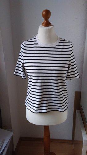 COS T-shirt court blanc-noir coton