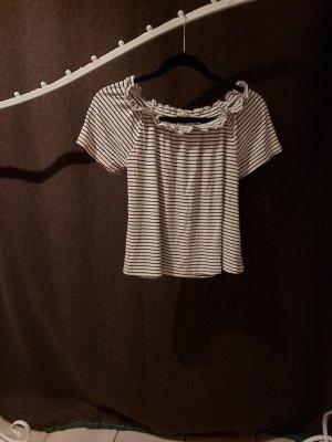 Schwarz weiß gestreiftes Tshirt