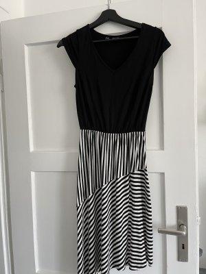 Schwarz/Weiß Jerseykleid