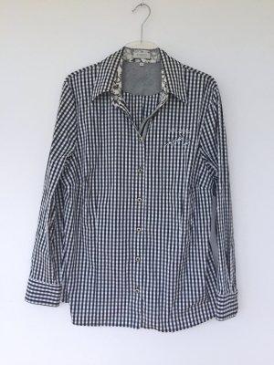 schwarz-weiß karierte Bluse, Größe 48