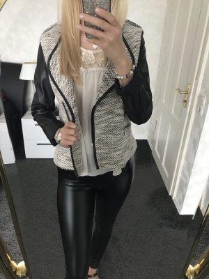 Orsay Blazer en cuir noir-blanc