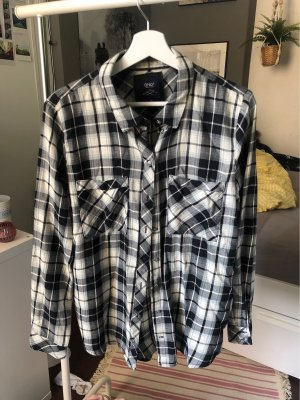 Only Flannel Shirt white-black