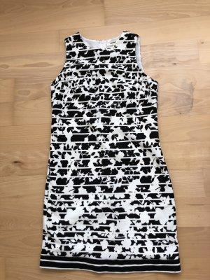 Schwarz weiß Kleid