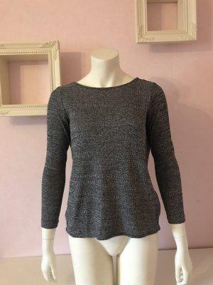 H&M Blusa sin espalda negro-blanco